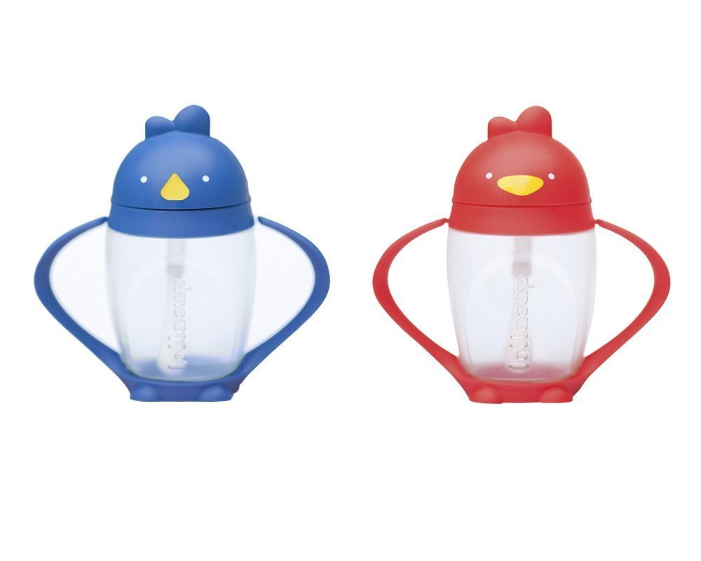 Lollacup Infant And Toddler Straw Cup, 2 Pack Blue Red by Lollacup