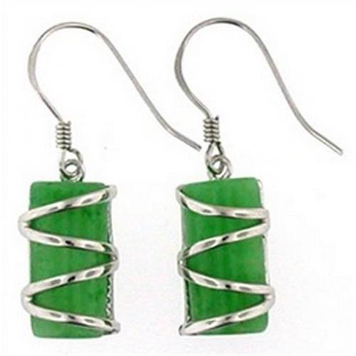 Doma Jewellery DJS02545 Silver and Jade Earring