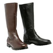125-MATEY Men 1 Heel Knee High Side Zipper Costume Boot