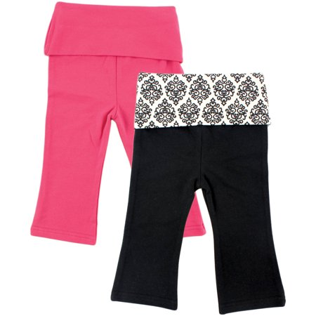 Baby Girl Yoga Pants, 2-Pack