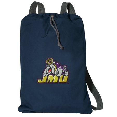 Cotton Canvas James Madison University Backpack Natural Fiber James Madison University Cinch Bag Lined and with Wide Straps