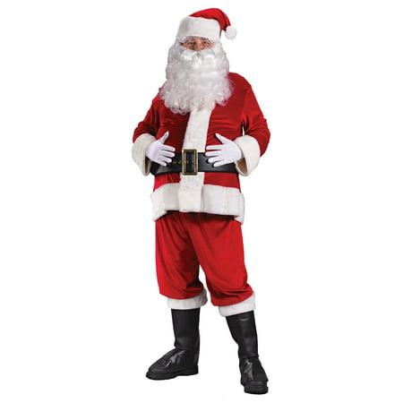 75cd3af362dc7 Santa Rich Velvet Adult Suit - Walmart.com