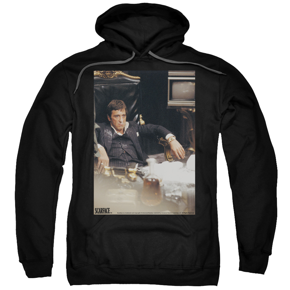 Scarface Sit Back Mens Pullover Hoodie