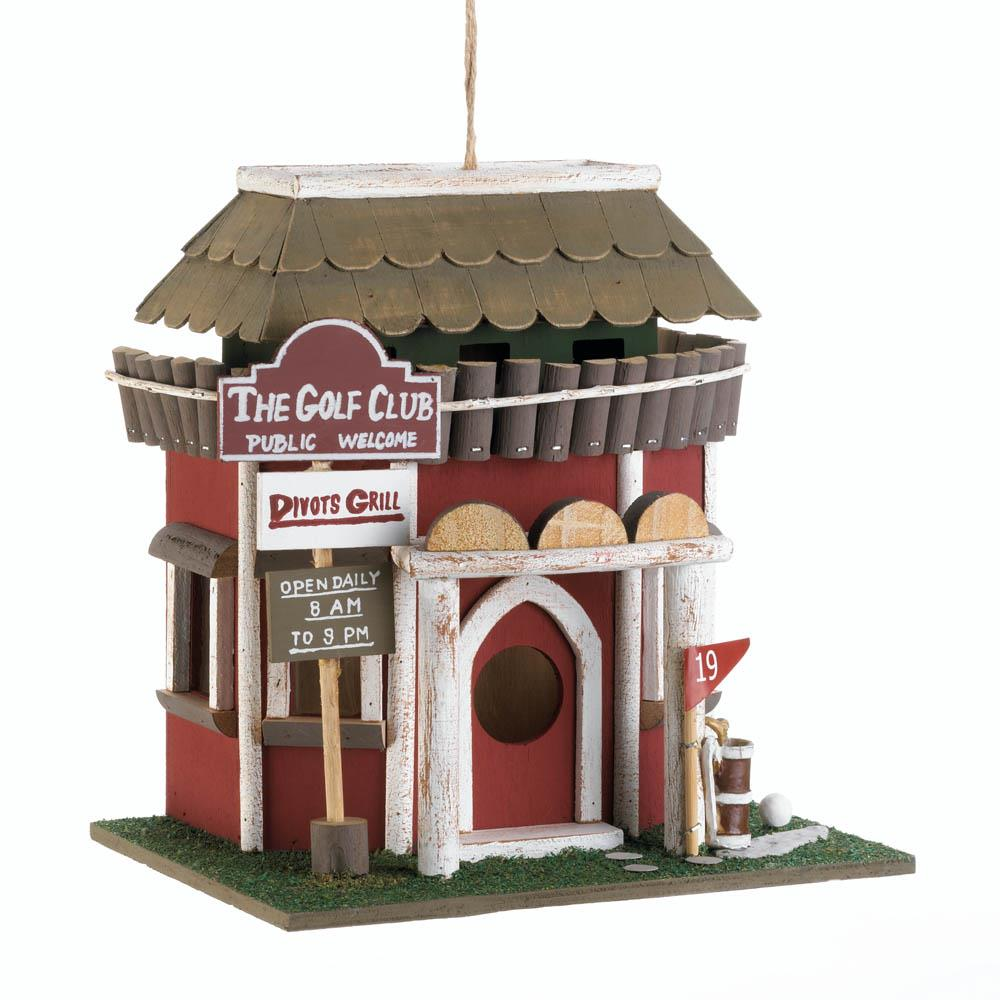 Birdhouses, Wooden Golf Course Club Birdhouse For Hummingbirds And Sparrows by