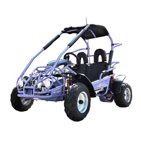 Blue TrailMaster Mid XRX 200CC High Quality Go Kart w/Pull Start & Electric Start