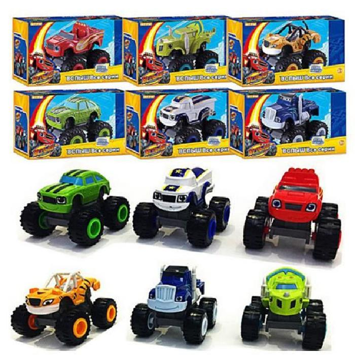 6PCS-Monster Truck Scooter Toys Blaze Monster Machines Flame Machine Monster Toys... by BeautyTale