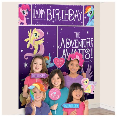 MLP Friendship Adventures 17 Pc Scene Setter & Photo - Halloween Wall Scene Setters