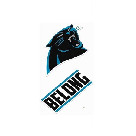 Carolina Panthers Double Up Die Cut Vinyl Stickers
