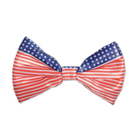 Club Pack of 12 Stars and Stripes Patriotic Bow Tie Costume Accessories 7