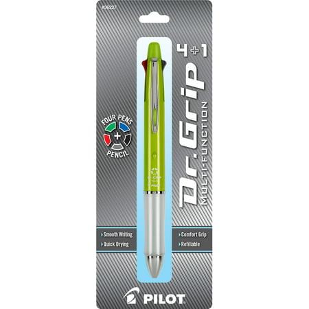 Multifunction Pilot (Pilot Dr. Grip 4+1 Multifunction Ballpoint Pen + #2 Pencil, 0.7mm, Assorted Color Inks, Lime Green)