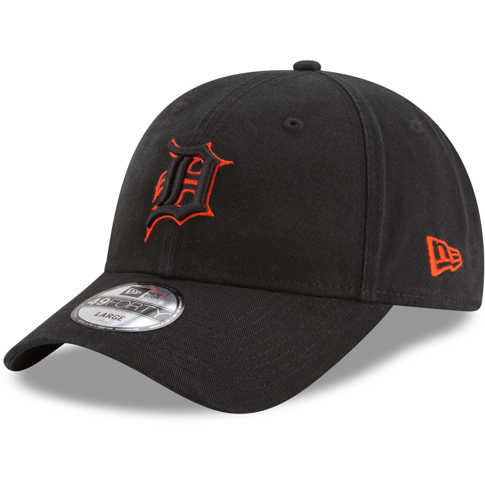 Detroit Tigers New Era Core Pop 49FORTY Fitted Hat - Black