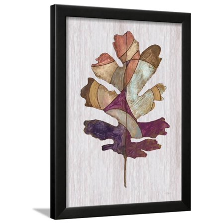 Wood Inlay Leaf 1 Framed Print Wall Art By Filippo Ioco