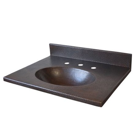 Native Trails Vnt302 30 Hammered Copper Vanity Top With Integrated Basin And Widespread Faucet Holes
