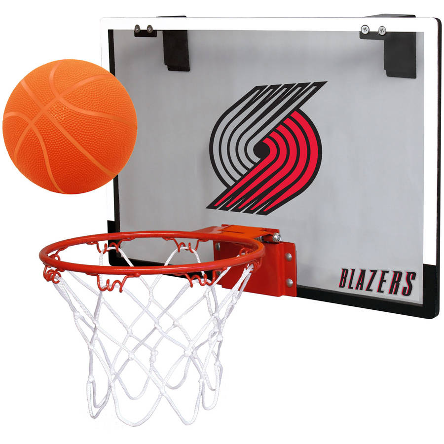 Rawlings NBA Game On Polycarb Hoop Set Portland Trail Blazers