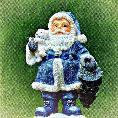 LAMINATED POSTER Christmas Motif Christmas Santa Claus Roe Deer Snow Poster Print 24 x -