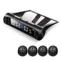 TPMS Solar Tire Pressure Monitoring System with 4 Wireless External Sensors