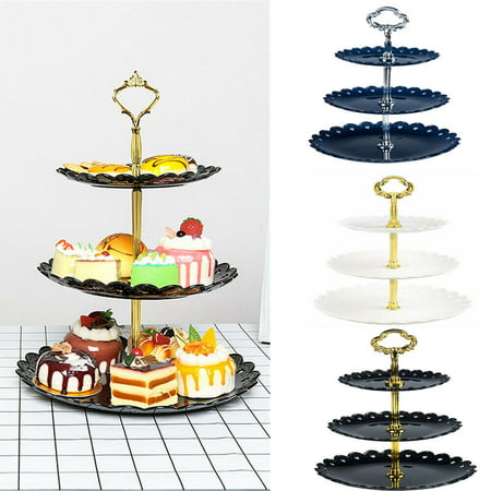 Fruit Tray For Halloween Party (The Noble Collection 3 Tier Cake Plate Stand Wedding Birthday Party Afternoon Tea Dessert Fruit)