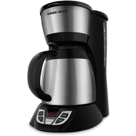 Black And Decker Programmable Coffee Maker : BLACK+DECKER 8-Cup Thermal Programmable Coffee Maker, Stainless Steel and Black, CM1609 ...