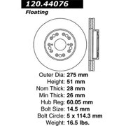 StopTech 127.44076R StopTech Sport Rotors; Drilled And Slotted; Front Right;10.83 in. Dia.; 2.01 in. Height;