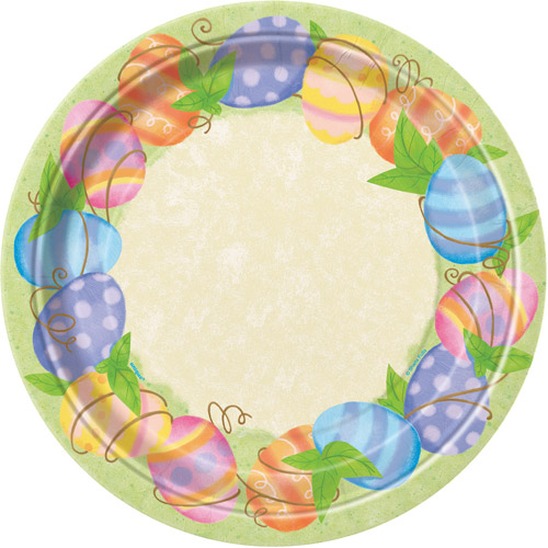 "9"" Easter Spring Paper Dinner Plates, 8ct"