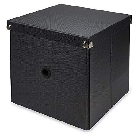 - Samsill Pop n??? Store Decorative Storage Box with Lid, Collapsible and Stackable, Cube Storage Box, Interior Size (11