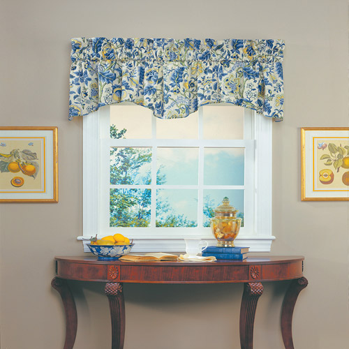 Waverly Imperial Dress Window Valance, Porcelain