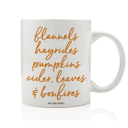 Autumn Season Coffee Tea Mug Gift Idea Everything Fall Pumpkins & Spices Seasonal Thanksgiving Dinner Halloween Parties Present Family Coworker Home Office 11oz Ceramic Beverage Cup Digibuddha DM0380 - Spice Girls Halloween Ideas