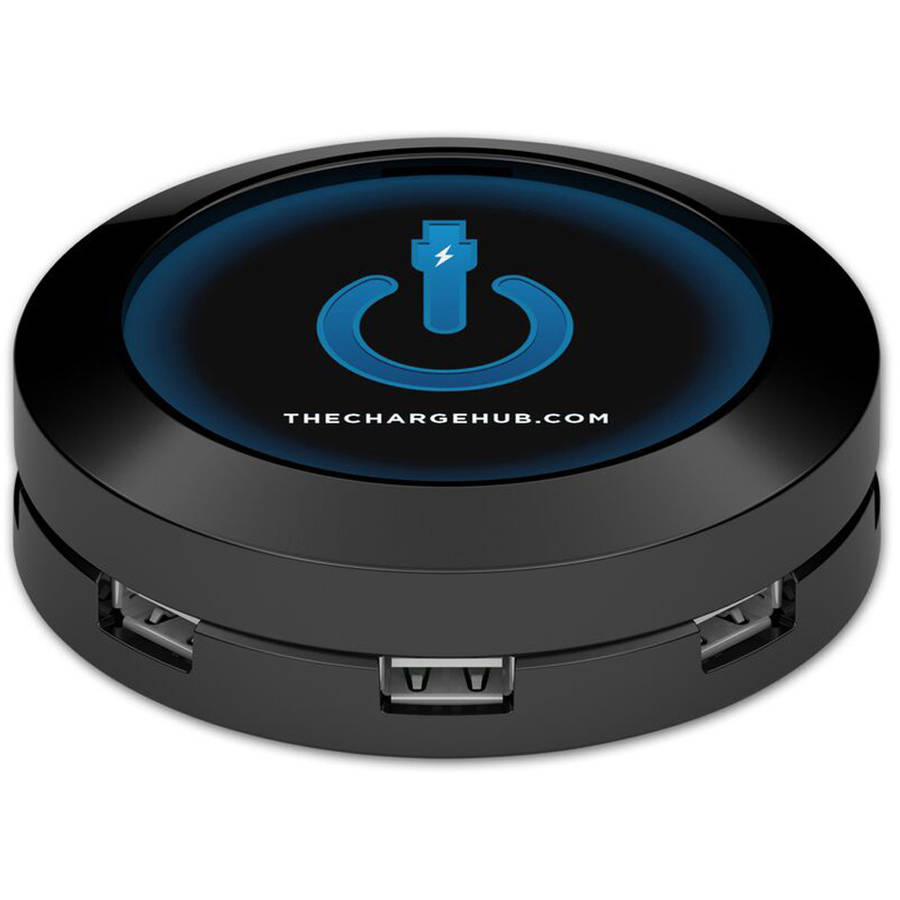 ChargeHub X7 7-Port USB SuperCharger Super Value Pack, Round, Multiple Colors Available