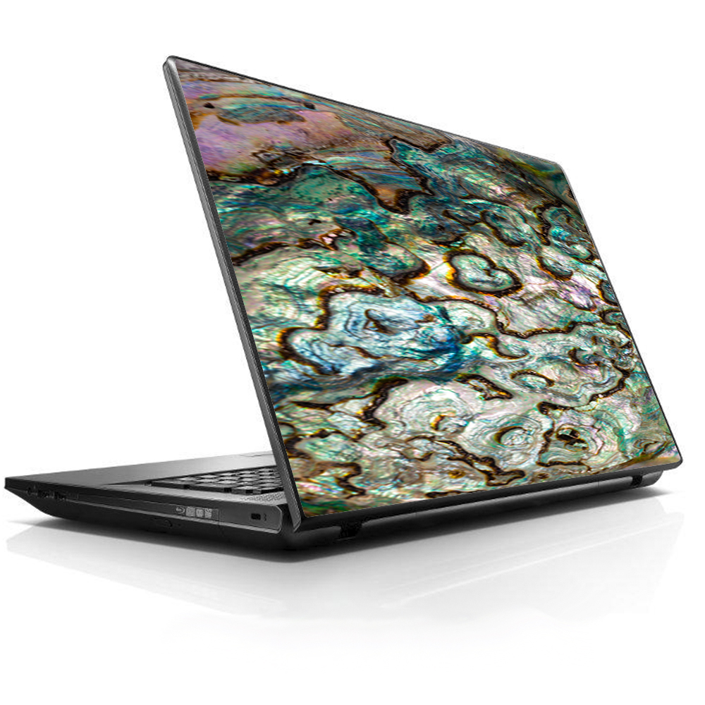 """Laptop Notebook Universal Skin Decal Fits 13.3"""" to 15.6"""" / Abalone Shell Gold underwater"""