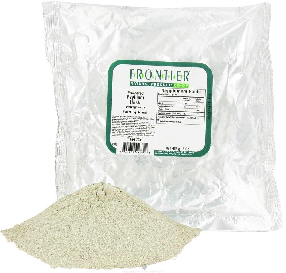Frontier Natural Products - Psyllium Husk Powdered - 1 lb.