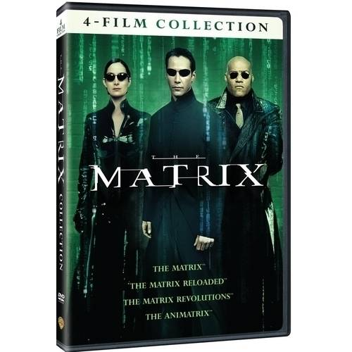 4 Film Favorites: The Matrix Collection - The Matrix / The Matrix Reloaded / The Matrix Revolutions / The Animatrix