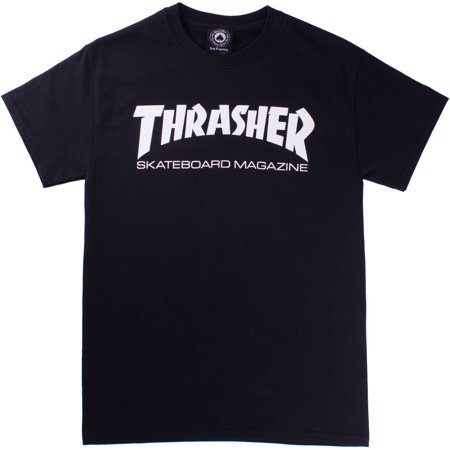 Skate Mag Tee - Black - SM, 100% Cotton By Thrasher](Thrasher Halloween)