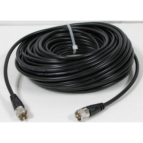 Taurus 100 Ft RG8X Mini 8 Coax Cable with PL 259 connectors For CB/HAM- High Quality Cable!