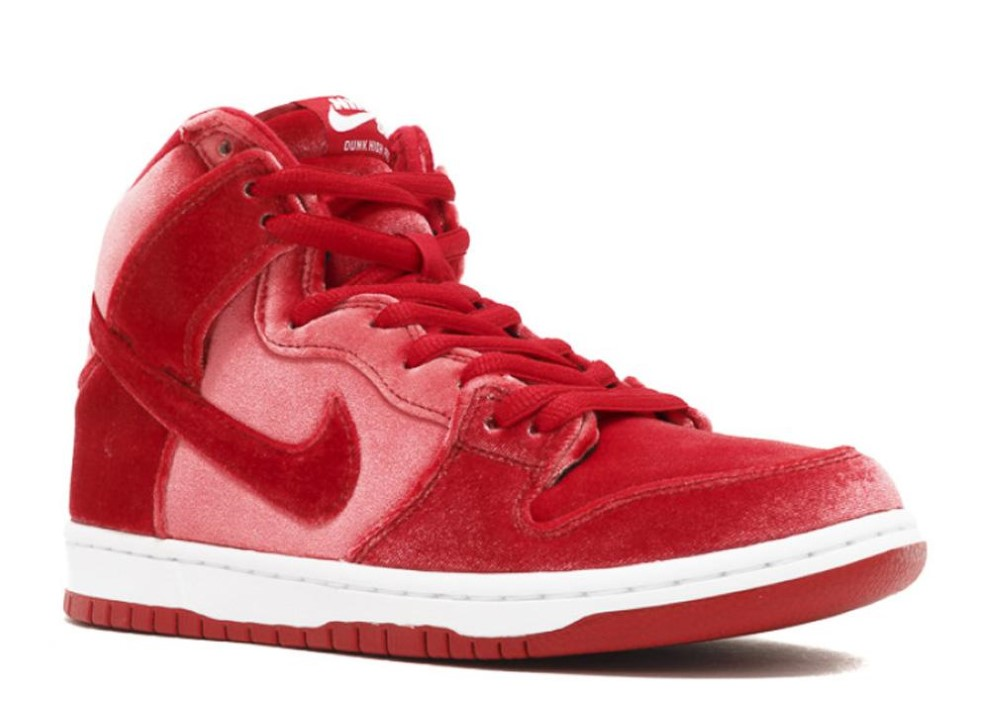 Nike - Men - Dunk High Premium Sb  Red Velvet  - 313171-661 - Size 10.5 43da684e3