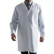 Men's Classic Length Lab Coat, White