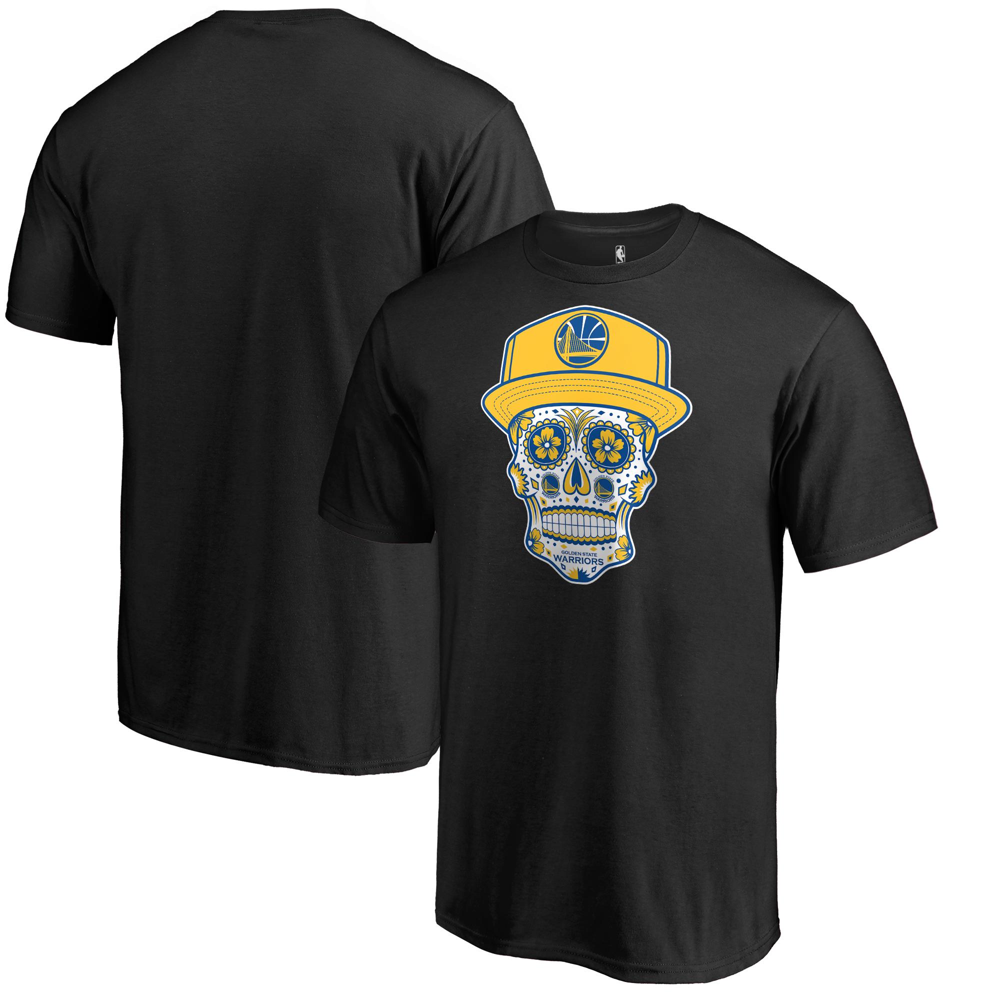 Golden State Warriors Fanatics Branded Hometown Collection Sugar Skull Alternate T-Shirt - Black