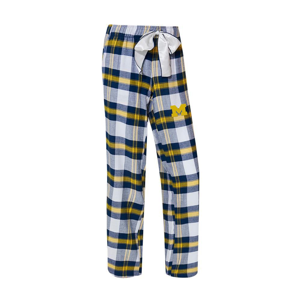 University of Michigan Wolverines Women's Flannel Pajamas Plaid PJ Bottoms