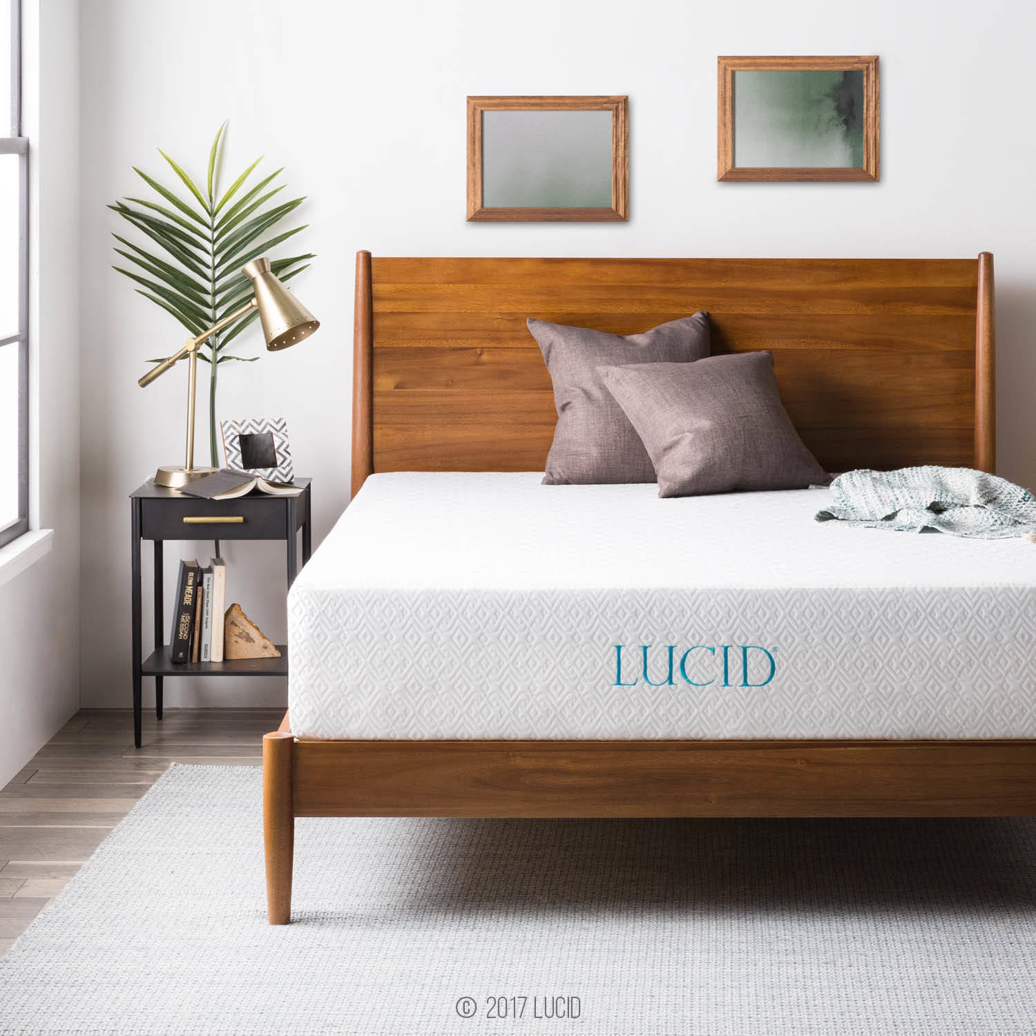 "Lucid 12"" Memory Foam Mattress, Triple-Layer, Multiple Sizes by CVB Inc."