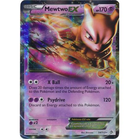 Pokemon Black & White Legendary Treasures Single Card Rare Holo ex Mewtwo-EX
