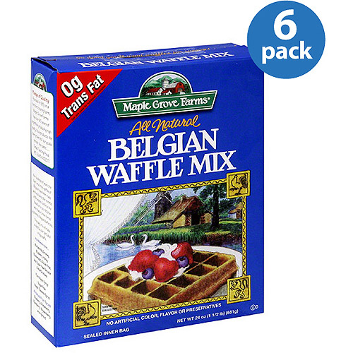 Maple Grove Farms Belgian Waffle Mix, 24 oz, (Pack of 6)