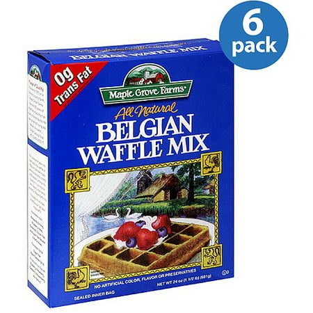 - Maple Grove Farms Belgian Waffle Mix, 24 oz, (Pack of 6)
