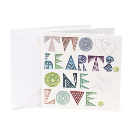 Hallmark Studio Ink Wedding Card (Two Hearts One Love)