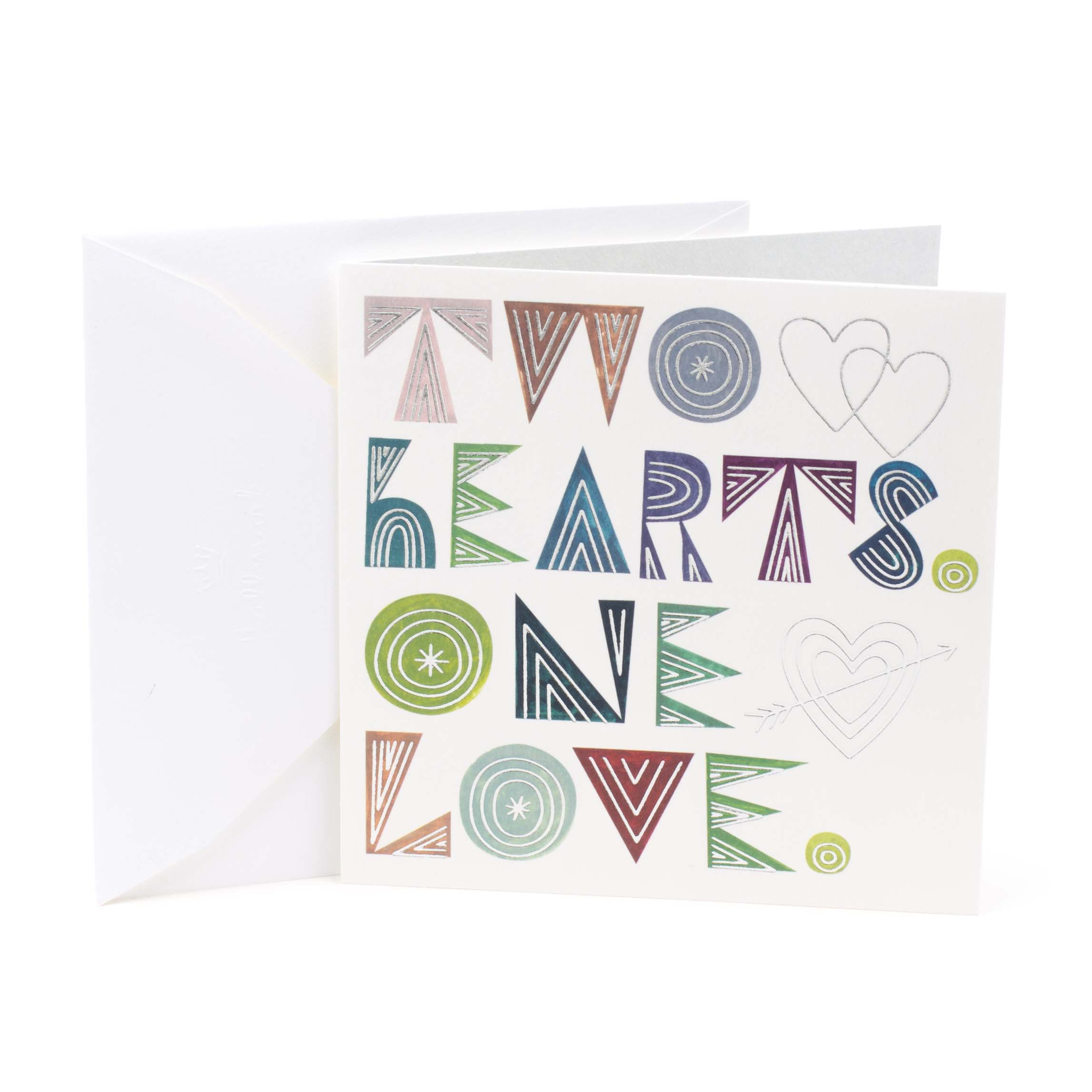Hallmark Studio Ink, Two Hearts One Love, Wedding Greeting Card