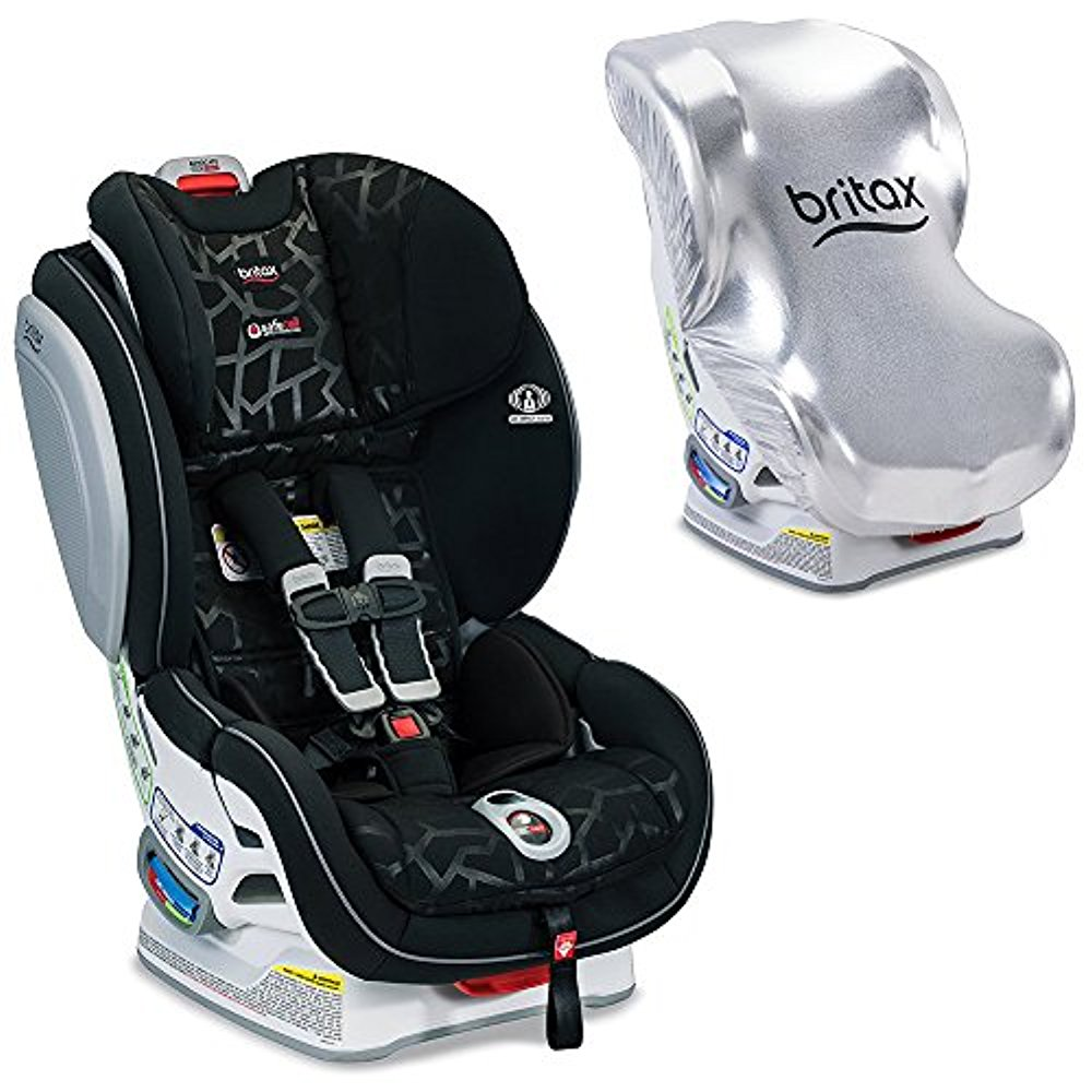 Britax Advocate ClickTight Convertible Car Seat with Sun Shield, Mosaic