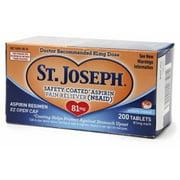 St. Joseph Enteric Coated Aspirin 81mg 200 Tablets