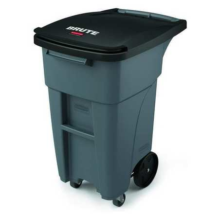 RUBBERMAID Trash Can,Free-Standing,Roll Out,32 gal. 1971947