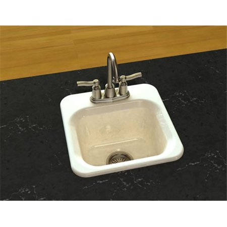 SONG S-8280-1-61 1 Bowl Entertainment Sink in Biscuit with 1 Faucet - 1 Hole 1 Bowl