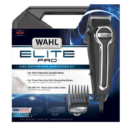 Wahl Clipper Elite Pro High Performance Haircut Kit for men with Hair Clippers