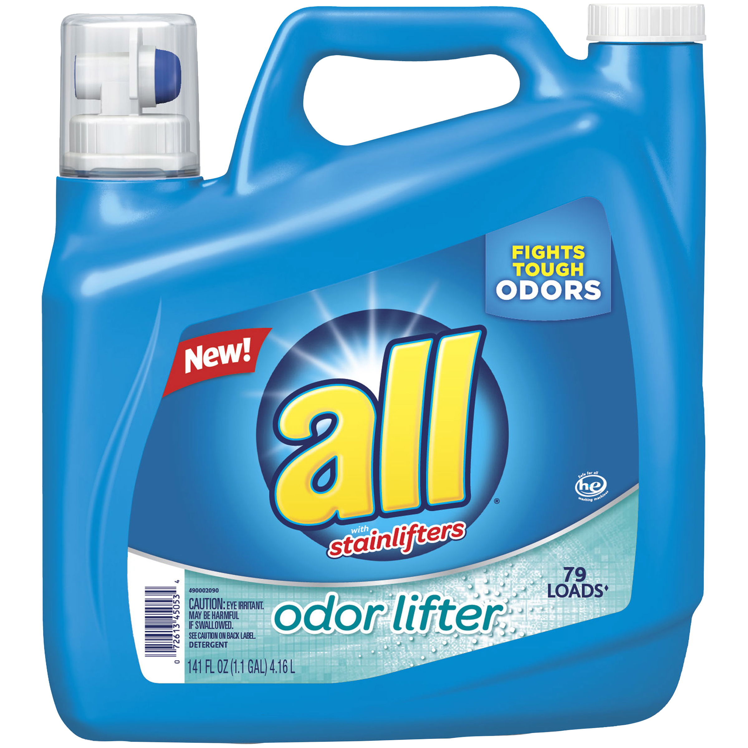 all Liquid Laundry Detergent, Odor Lifter, 141 Ounce, 79 Loads