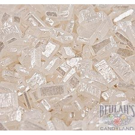 Sugar Crystals White Diamonds Crystalz Bakery Topping Sprinkles 8 ounces for $<!---->
